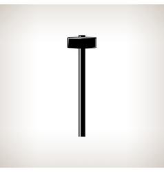Silhouette sledgehammer on a light background vector