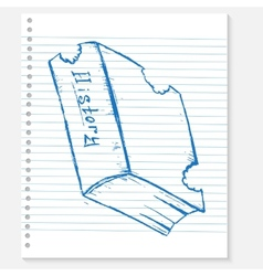 Sketch book on a notebook sheet vector