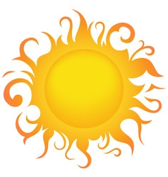 Sun vector image vector image