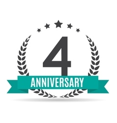 Template logo 4 years anniversary vector