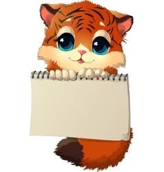 tiger cub vector image