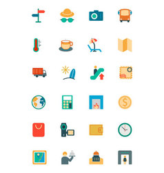 Travel colored icons 3 vector