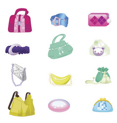 Woman accessories set collection vector