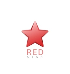 Red star logo vector