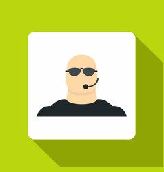 Safety guard man icon flat style vector