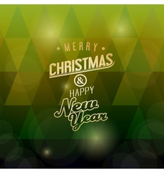 A merry christmas green triangular background vector