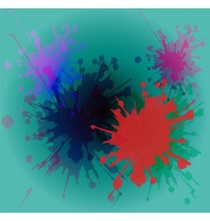Watercolor paint splash on blue background vector