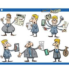 businessmen cartoon set vector image