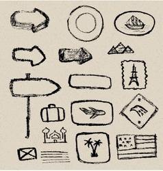 Vintage grunge elements vector image