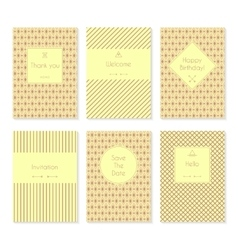 Set of card templates or brochures vector