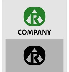 Letter r emblem symbol creative corporate concept vector