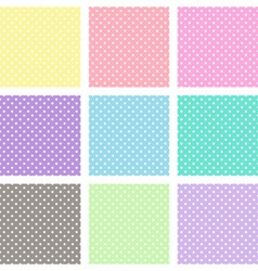 Polka dot background vector