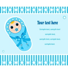 Baby boy card 2 vector
