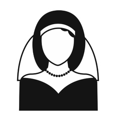 Bride simple icon vector