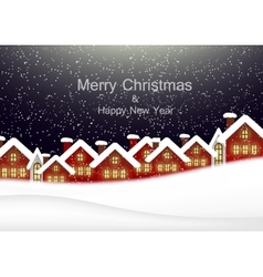 Christmas card with the urban landscape vector image