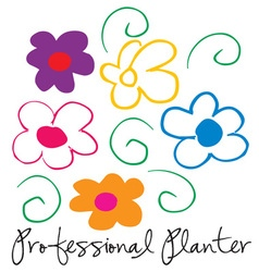 Professional planter vector