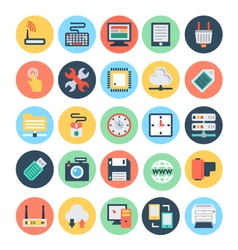 Technology and hardware icons 1 vector