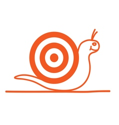 Snail cartoon orange vector