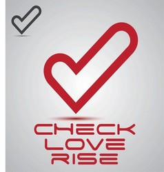 Check love rise logo vector