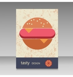 Brochure design for burger menu vector image vector image
