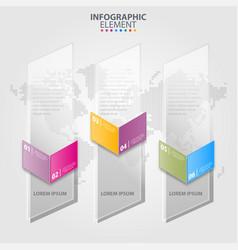 Business infographics transparancy design elements vector
