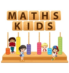 Children and math toy vector