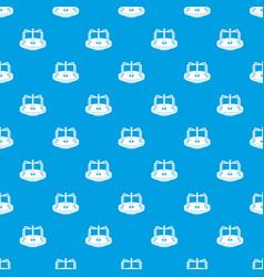 Children merry go round pattern seamless blue vector