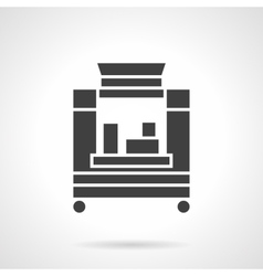 Coffee trailer glyph style icon vector image vector image