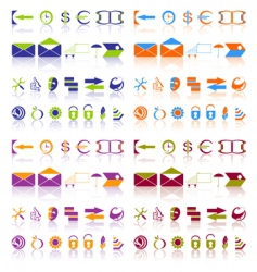 complete set of icons vector image vector image