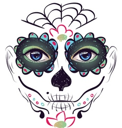 Day of Dead Girl Face3 vector image vector image