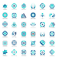 design elements set vector image vector image