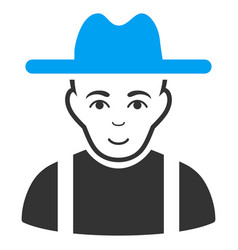 farmer guy flat icon vector image