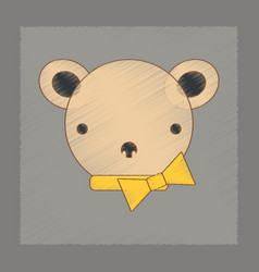 Flat shading style icon kids bear vector