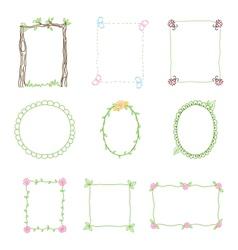 Hand Drawn Frames Set 3 vector image vector image