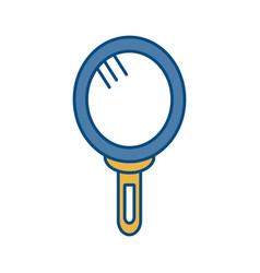 Hand mirror icon vector