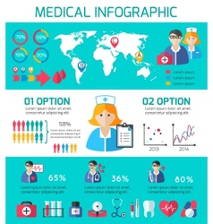 Medical icons infographic vector image