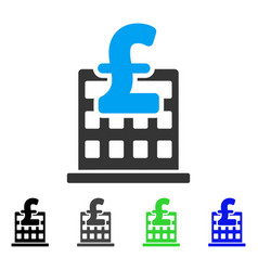 Pound financial company building flat icon vector