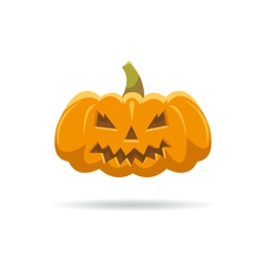Pumpkin isolated on a white backgrounds vector image vector image