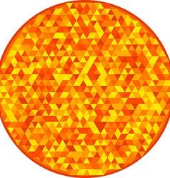 Round sun orange pattern vector