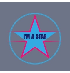 Star typography t-shirt graphics vector