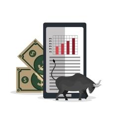 Stock financial market design vector