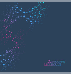 Structure molecule and communication dna atom vector