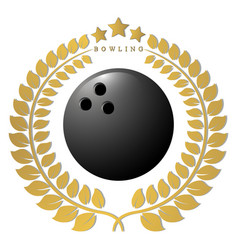 the theme bowling vector image vector image