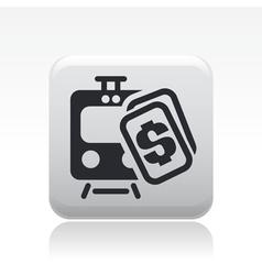 train price icon vector image vector image