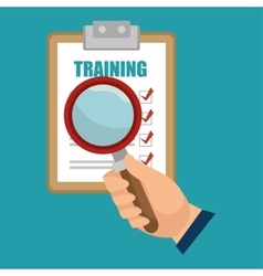 training choose search design isolated vector image