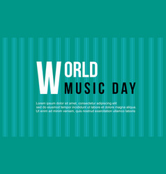 World music day celebration collection vector