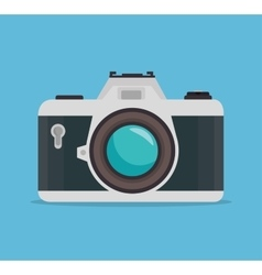 Photocamera blue background design graphic vector