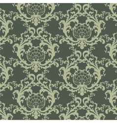 Floral damask baroque ornament pattern vector