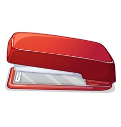 A red stapler vector image