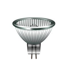 Halogen light bulb isolated on white vector